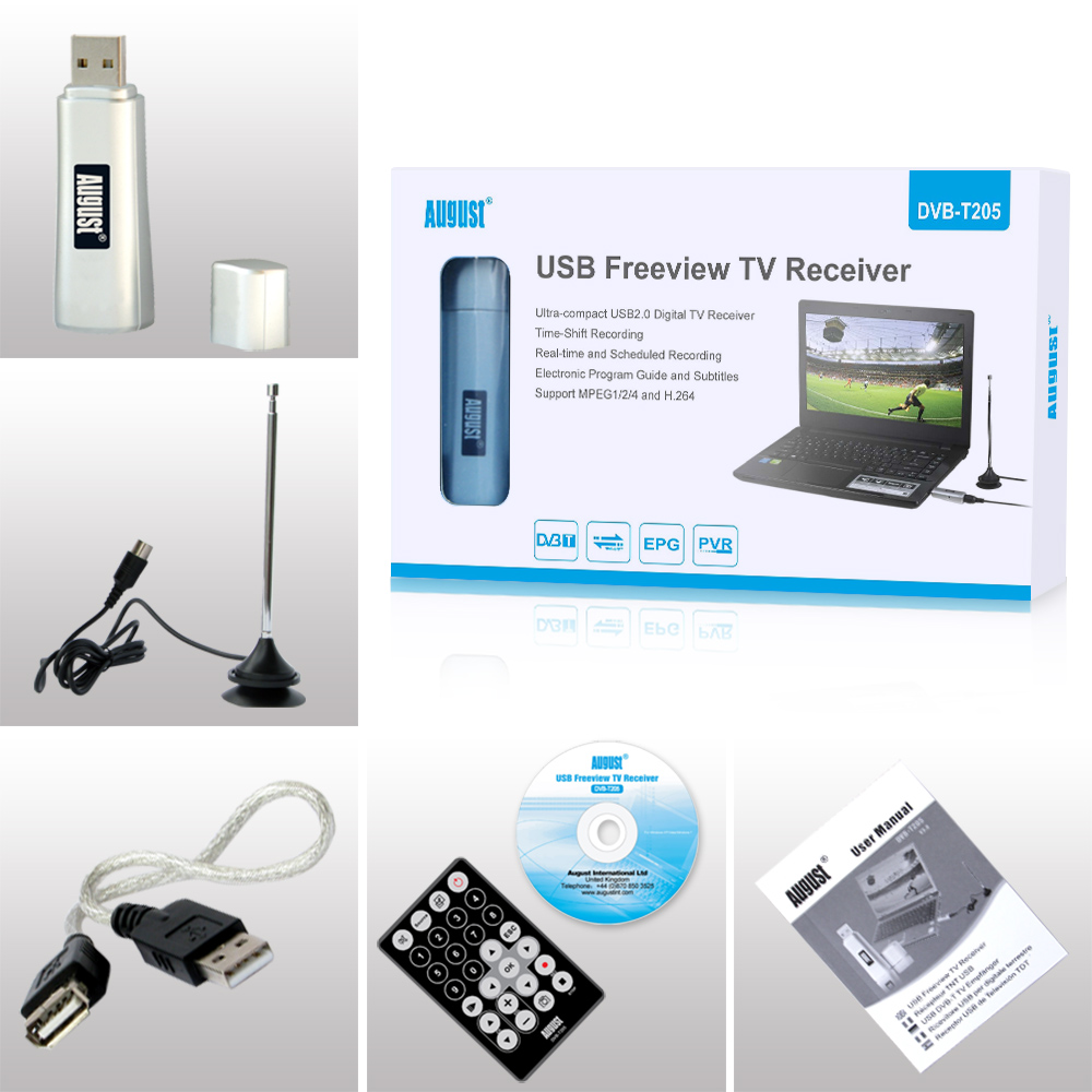 AUGUST USB FREEVIEW TV RECEIVER DVB-T205 WINDOWS 7 64BIT DRIVER DOWNLOAD