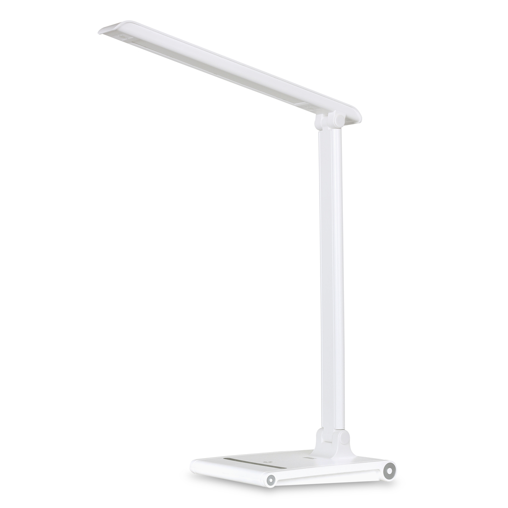 August LEC315 - Dimmable LED Desk Lamp with USB Charging Port - Office Work Light with 3 Lighting Modes / Adjustable Brightness / Touch Control - Black